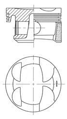 KOLBENSCHMIDT: Original Motor Kolben 41705600 ()