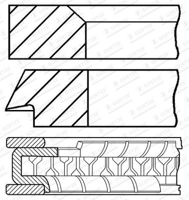 Fascia pistone 08-702600-00 GOETZE ENGINE — bara nya delar