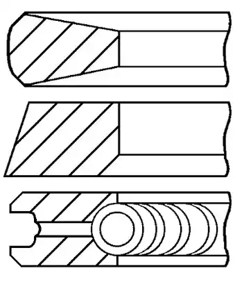 Original Комплект сегменти 08-704500-00 Опел