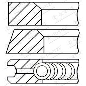 08-743100-00 GOETZE ENGINE Cyl-Ø: 89,00mm Kolvringsats 08-743100-00 köp lågt pris