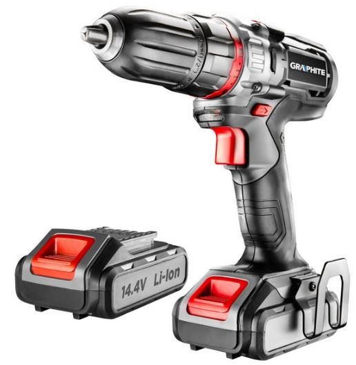 58G216 GRAPHITE Spannung: 14.4V, Batterie-Kapazität: 2.0 (x2)Ah, Spannbereich Bohrfutter von: 1mm, Spannbereich Bohrfutter bis: 13mm, mit Batterie, mit Zubehör, Drehzahl bis: 1100, 4001/min, Drehmoment bis: 34Nm Akkuschrauber 58G216 günstig kaufen