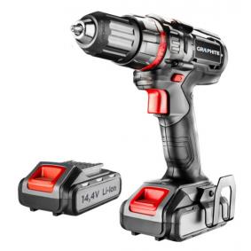 58G219 GRAPHITE Spannung: 14.4V, Batterie-Kapazität: 1.5 (x2)Ah, Spannbereich Bohrfutter von: 1mm, Spannbereich Bohrfutter bis: 10mm, mit Batterie, mit Zubehör, Drehzahl bis: 3901/min, Drehzahl bis: 10001/min, Drehmoment bis: 28Nm Akkuschrauber 58G219 günstig kaufen