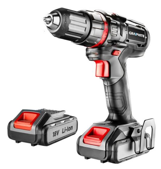 58G225 GRAPHITE Spannung: 18V, Batterie-Kapazität: 1.5 (x2)Ah, Spannbereich Bohrfutter von: 1mm, Spannbereich Bohrfutter bis: 10mm, mit Batterie, mit Zubehör, Drehzahl bis: 1100, 4001/min, Drehmoment bis: 30Nm Akkuschrauber 58G225 günstig kaufen