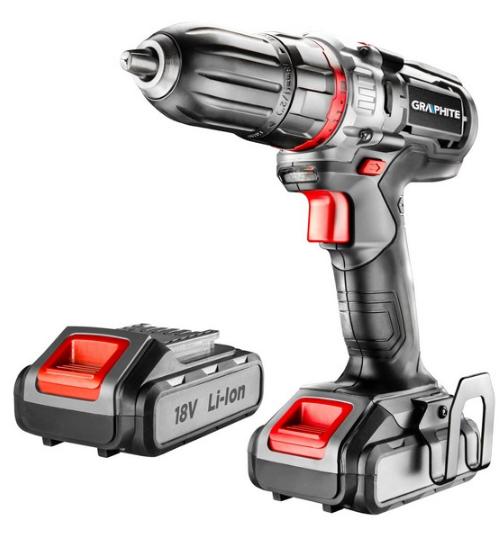 58G227 GRAPHITE Spannung: 18V, Batterie-Kapazität: 2.0 (x2)Ah, Spannbereich Bohrfutter von: 1mm, Spannbereich Bohrfutter bis: 13mm, mit Batterie, mit Zubehör, Drehzahl bis: 1100, 4001/min, Drehmoment bis: 42Nm Akkuschrauber 58G227 günstig kaufen