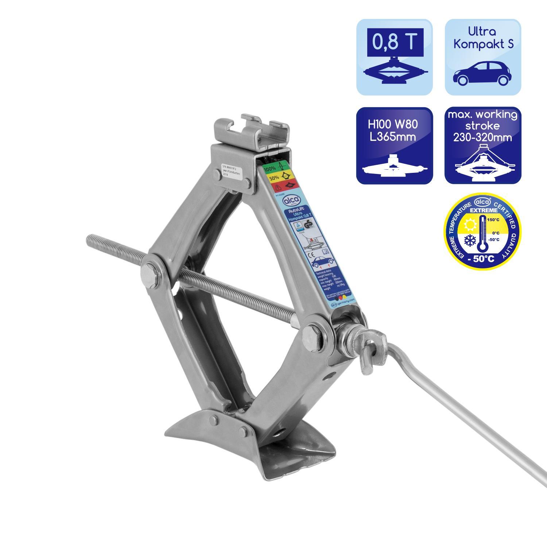 Kjøp 436080 ALCA Ultra Kompakt 0.8t, mekanisk, Personbiler, Saksejekk Jekk 436080 Ikke kostbar