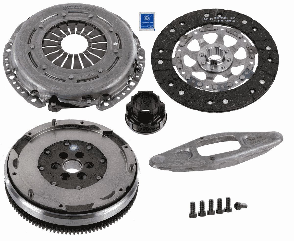 BMW Z4 2013 Clutch kit SACHS 2290 601 122: with clutch pressure plate, with double-mass flywheel, with flywheel screws, with clutch disc, with clutch release bearing