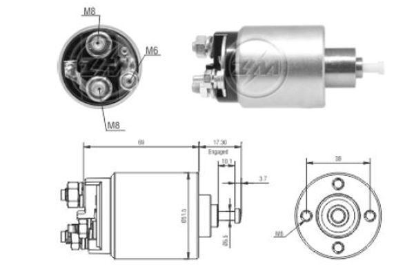 ERA: Original Magnetschalter Anlasser ZM1961 ()