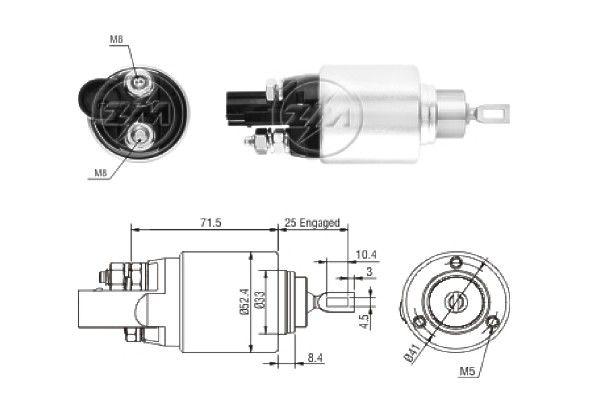 ERA: Original Magnetschalter Anlasser ZM381 ()