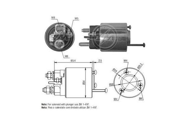 Magnetschalter Anlasser ZM497 rund um die Uhr online kaufen