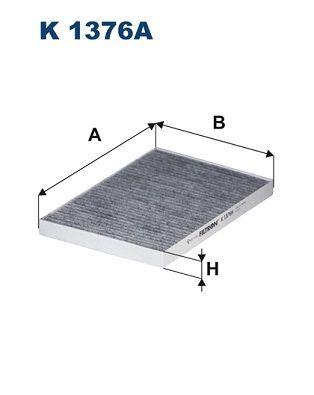 Achat de K 1376A FILTRON Filtre à charbon actif Largeur: 180mm, Hauteur: 20mm, Longueur: 253mm Filtre, air de l'habitacle K 1376A pas chères