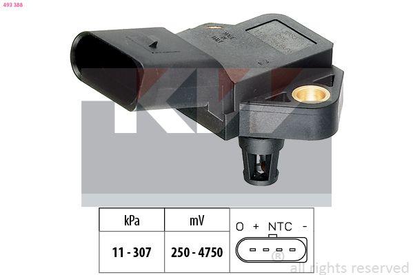 Ladedrucksensor KW 493 388