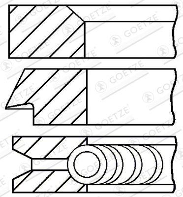 Original Комплект сегменти 08-106500-00 BMW