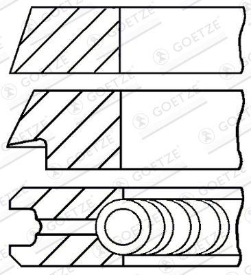GOETZE ENGINE: Original Kolbenringe 08-109400-10 ()