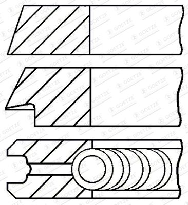 Kolvringssats 08-109400-10 GOETZE ENGINE — bara nya delar