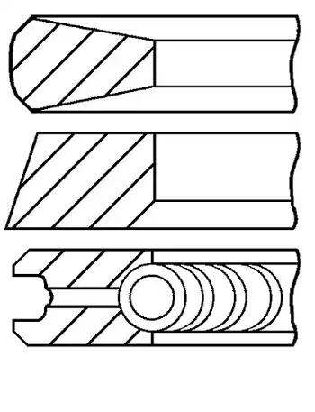 Original Комплект сегменти 08-114700-00 Фиат