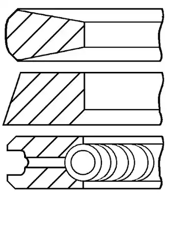 GOETZE ENGINE: Original Kolbenringe 08-114700-00 ()