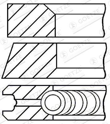 GOETZE ENGINE Piston Ring Kit 08-136400-00