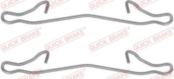 QUICK BRAKE: Original Zubehörsatz, Scheibenbremsbelag 109-1121 ()