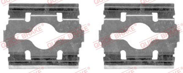 Køb QUICK BRAKE Tilbehørssæt, skivebremsebelægning 109-1657 lastbiler
