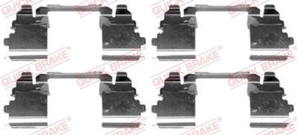 Køb QUICK BRAKE Tilbehørssæt, skivebremsebelægning 109-1768 lastbiler