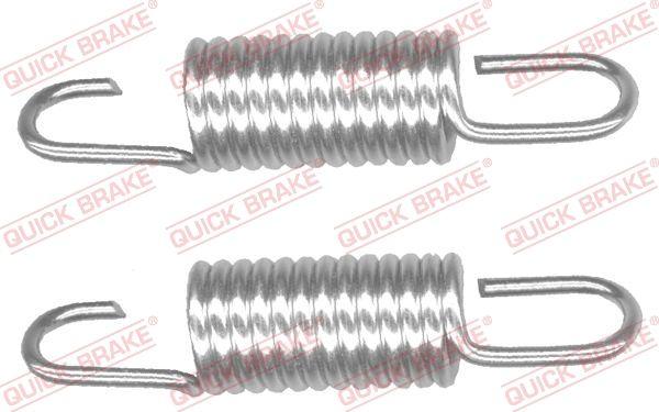 QUICK BRAKE: Original Bremsbacken Handbremse 113-0508 ()