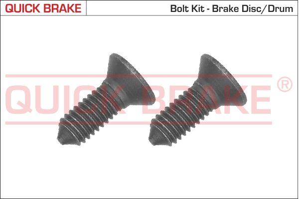 Car spare parts VW ATLAS 2017: Bolt, brake disc QUICK BRAKE 11667K at a discount — buy now!