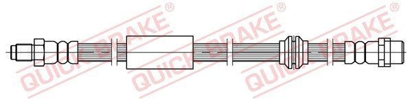 MERCEDES-BENZ R-Klasse 2013 Bremsschlauch - Original QUICK BRAKE 32.418 Länge: 555mm, Gewindemaß 1: M10x1, Gewindemaß 2: M10x1