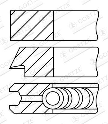 GOETZE ENGINE: Original Kolbenringsatz 08-148300-00 ()