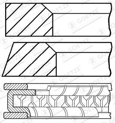Original Комплект сегменти 08-154200-00 Фиат