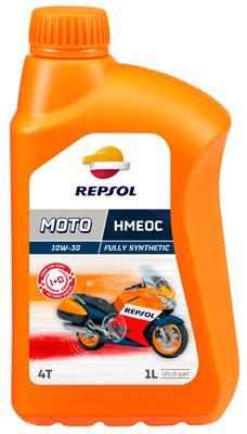REPSOL MOTO, HMEOC 4T Olej silnikowy 10W-30, 1l, Olej syntetyczny RP160D51 CF MOTO