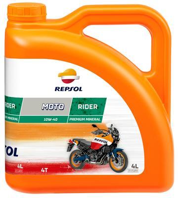 Moto REPSOL MOTO, Rider 4T 10W-40, 10W-40, 4l, Mineralolja Motorolja RP165N54 köp lågt pris