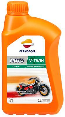 REPSOL MOTO, V-Twin 4T Motorolja 20W-50, 20W-50, 1l, Mineralolja RP168Q51 HARLEY-DAVIDSON