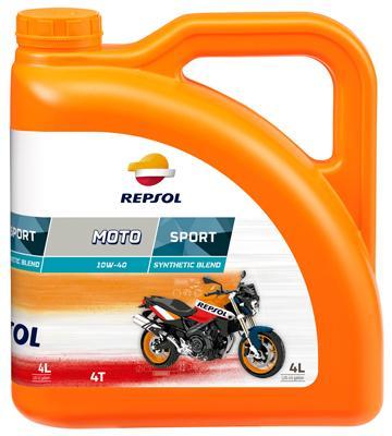 Achat de Moto REPSOL MOTO, Sport 4T 10W-40, 4I, Huile en partie synthétique Huile moteur RP180N54 pas chères