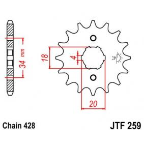 JTSPROCKETS JTF259.15