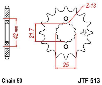 JTSPROCKETS JTF513.15RB