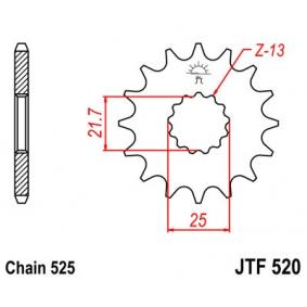 JTSPROCKETS JTF520.16RB