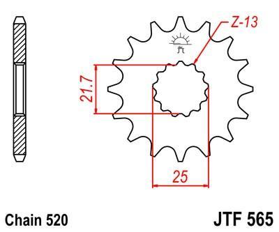 JTSPROCKETS JTF565.15