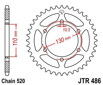 JTSPROCKETS JTR486.43