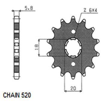 SUNSTAR Koło łańcuchowe małe napędzające 306-12 MZ