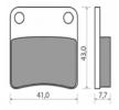 NHC Stabdžių trinkelių rinkinys, diskinis stabdys H1055-CU7 DAELIM