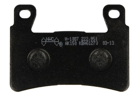 Sada brzdových destiček, kotoučová brzda H1087-AK150 ve slevě – kupujte ihned!