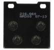 NHC Kit de plaquettes de frein, frein à disque avant, arrière S3019AM300