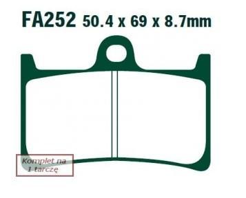 Zestaw klocków hamulcowych, hamulce tarczowe FA252HH w niskiej cenie — kupić teraz!