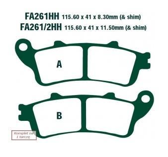 Brake Pad Set, disc brake FA261HH at a discount — buy now!