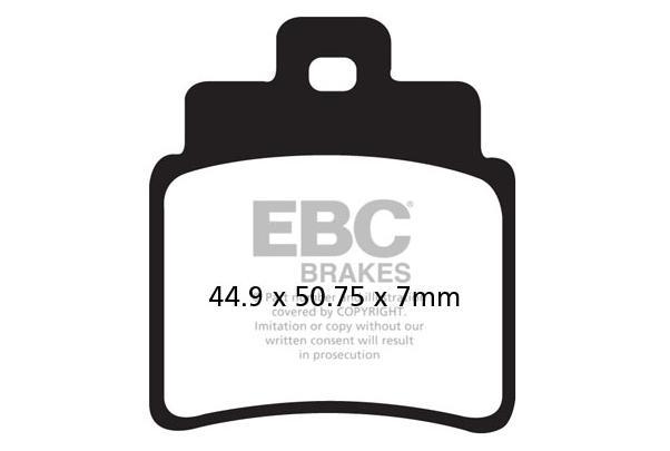 EBC Brakes Zestaw klocków hamulcowych, hamulce tarczowe FA355/4TT SYM