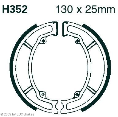 Bremsbackensatz EBC Brakes H352 NSC HONDA