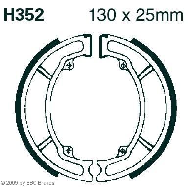 Garnitura zavorne celjusti EBC Brakes H352 NSC HONDA