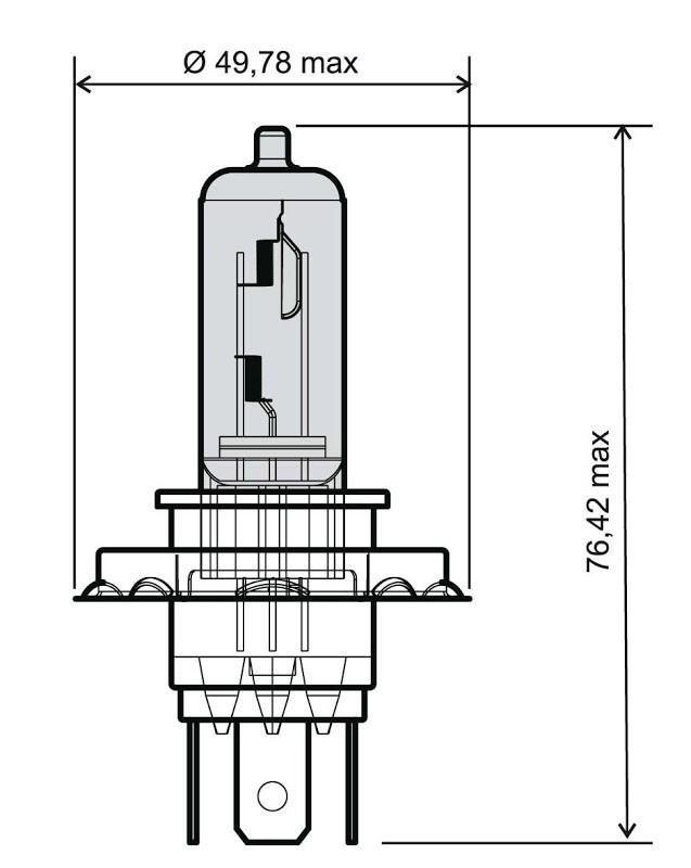24 651 0065 RMS 35 / 35W, H4, 12V Bulb, spotlight 24 651 0065 cheap