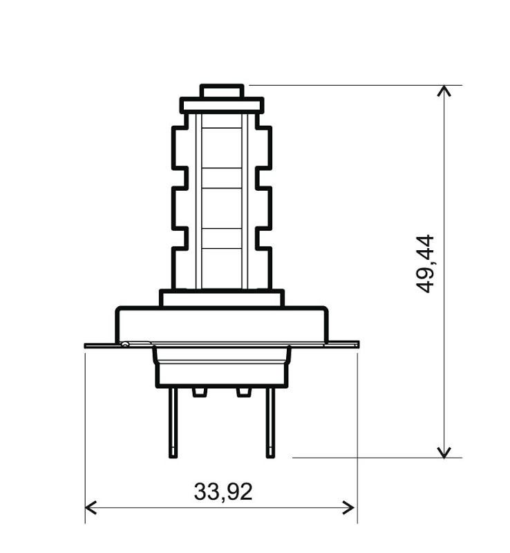 RMS Glödlampa, fjärrstrålkastare H7 12V 24 651 0615 PUCH