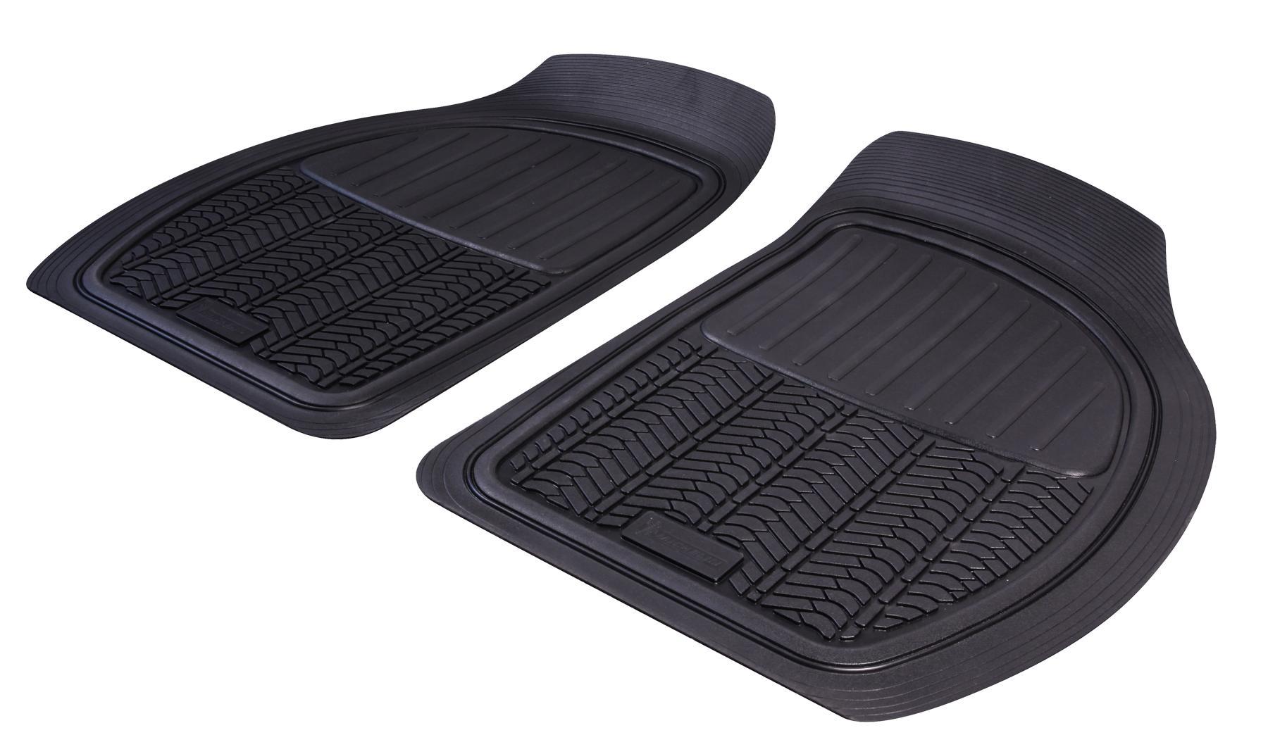 009071 Michelin Universeel geschikt Rubber, Voor, Aantal: 2, Zwart Vloermatset 009071